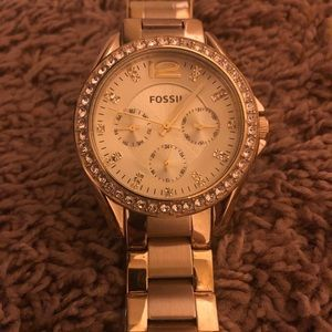 Fossil Women's Riley Gold-Tone Watch